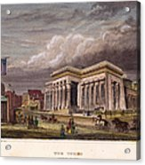 Nyc: The Tombs, 1850 Acrylic Print