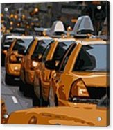 Nyc Traffic Color 16 Acrylic Print