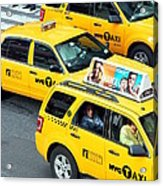 Nyc Yellow Cabs Acrylic Print