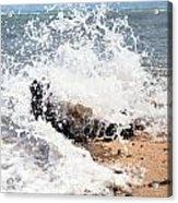 Oahu North Shore Splash Acrylic Print