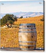 Oak Barrel At Vineyard Acrylic Print