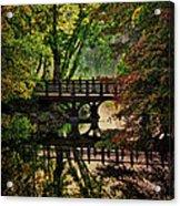 Oak Bridge In Fall Acrylic Print
