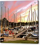 Oak Pt Harbor At Sunset Acrylic Print