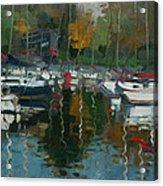 Oakville Harbour On Acrylic Print