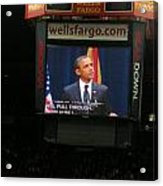 Obama At Mchale In Tucson Acrylic Print