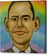 Obama Rainbow Acrylic Print