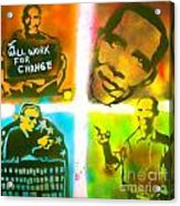 Obama Squared Acrylic Print by Tony B Conscious