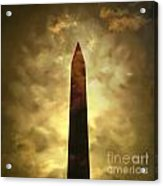 Obelisk. Illustration Acrylic Print by Bernard Jaubert