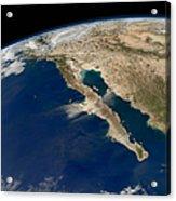 Oblique View Of Baja California Acrylic Print
