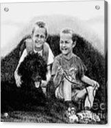 Obrien Brothers And Their Dog Acrylic Print
