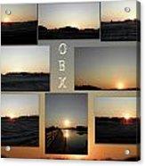 Obx North Carolina Sunsets Acrylic Print