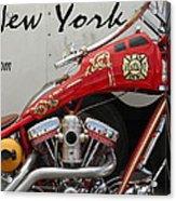 Occ Fdny Motorcycle Acrylic Print