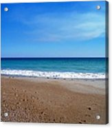 Ocean Blue Acrylic Print by Joan Meyland