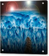 Ocean Falling Into Abyss Acrylic Print