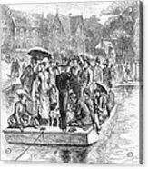 Ocean Grove Ferry, 1878 Acrylic Print