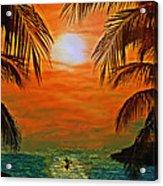 Ocean Kayaker Acrylic Print