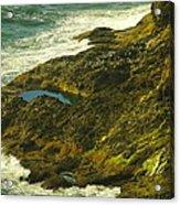 Ocean Pounded Rock  Acrylic Print