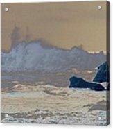 Ocean Waves On The Oregon Coast Acrylic Print