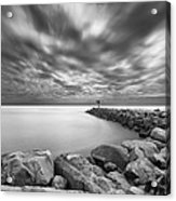 Oceanside Harbor Jetty 2 Acrylic Print by Larry Marshall
