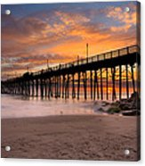 Oceanside Sunset 7 Acrylic Print