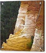 Ochre Quarry Of Roussillon, Provence Acrylic Print