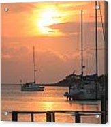 Ocracoke Island Harbor Sunset Acrylic Print