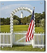 Ocracoke Lighthouse July 4th Acrylic Print by Bill Swindaman