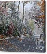 October Blizzard Acrylic Print