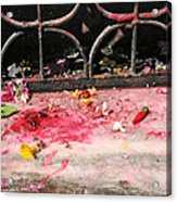 Offering Of Floweres Acrylic Print