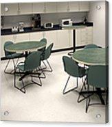 Office Break Room Acrylic Print by Will & Deni McIntyre