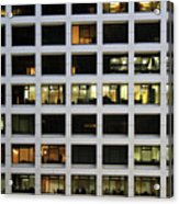 Office Building At Night Acrylic Print
