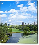 Office Buildings From A Park Acrylic Print