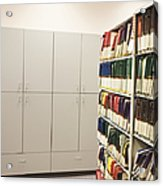 Office Cabinets And Colorful Files Acrylic Print