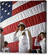 Officers Render Honors During A Change Acrylic Print
