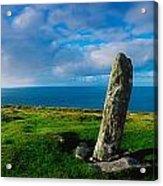 Ogham Stone, Dunmore Head, Dingle Acrylic Print