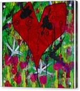 Oh My Green Heart Acrylic Print