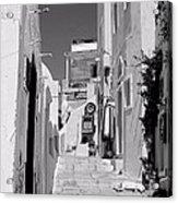 Oia Staircase Bw Acrylic Print