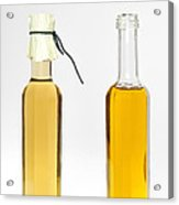 Oil And Vinegar Bottles Acrylic Print by Matthias Hauser