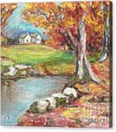 Oil Pastel Acrylic Print