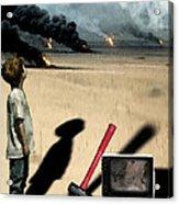 Oil Wars Acrylic Print