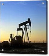 Oil Well Pump Acrylic Print