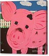Oink Acrylic Print