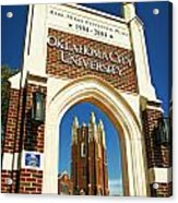 Oklahoma City University Acrylic Print