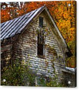 Old Abandoned House In Fall Acrylic Print