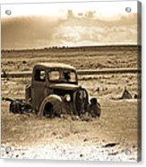 Old Abanoded Truck Fade Acrylic Print