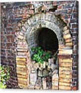 Old Antique Brick Kiln Fire Box Acrylic Print