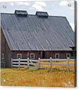 Old Barn And Fence Acrylic Print
