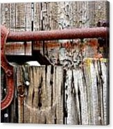 Old Barn Door Detail Acrylic Print