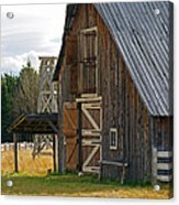 Old Barn Doors Acrylic Print