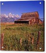 Old Barn, Grand Teton National Park Acrylic Print